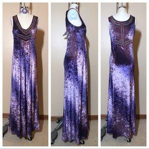 NWOT Free People Velvet Maxi Dress